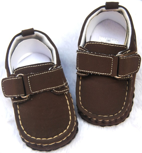Dark brown kids toddler baby boy walking shoes size 2 3