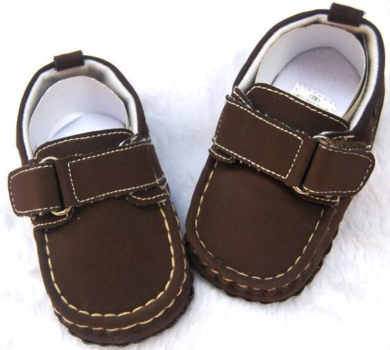 Dark brown kids toddler baby boy walking shoes size 2 3