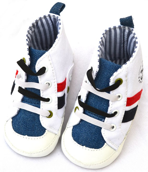 blue white new baby boy walking shoes size 2 3 4