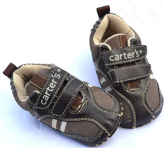Dark brown new infants toddler baby boy walking shoes size