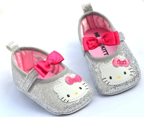 Silver Mary Jane infant toddler baby girl shoes booties 6