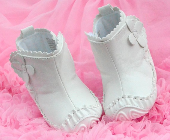 White Mary Jane Infant Toddler Baby Girl Shoes Boots