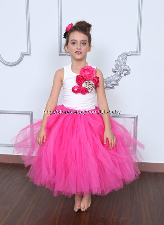 hot pink flower girl dress № 139515