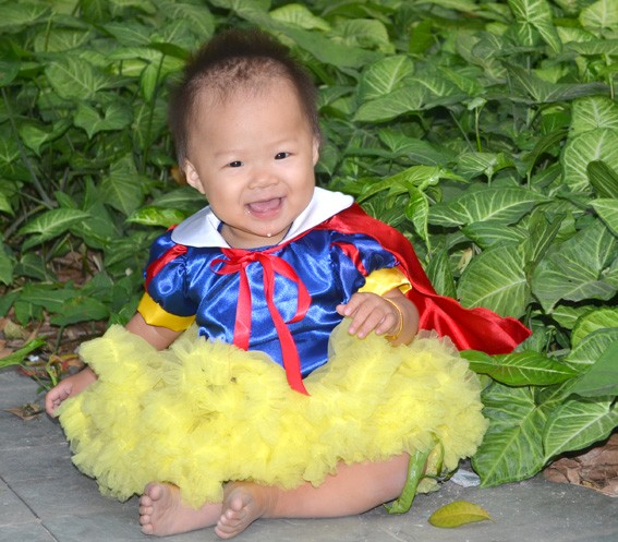 Red Yellow Blue Christmas Baby Toddler Children Tutu Party Costume Girls Dress