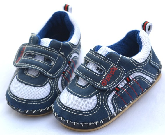 Blue tennis hard bottoms toddler baby boy shoes size 4 5 6