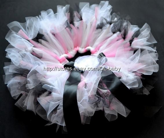 black pink Ballet Girl toddler Baby wedding dressy Party Costume Tutu Skirt 0-5T
