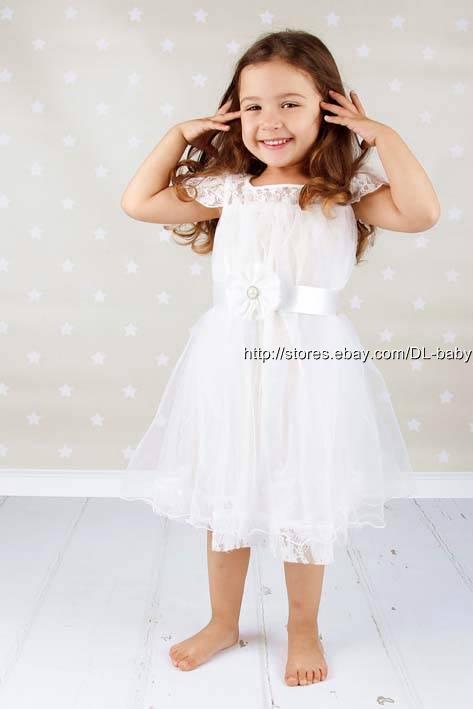 robe demoiselle d 39 honneur f te en dentelle tout petit. Black Bedroom Furniture Sets. Home Design Ideas