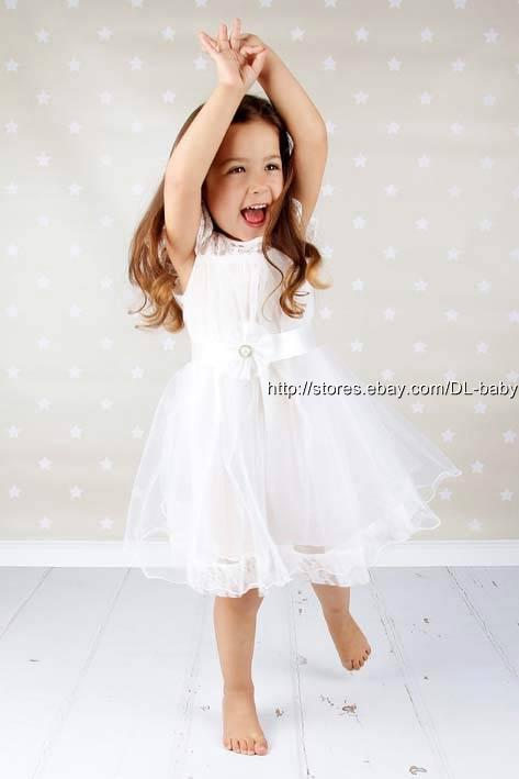 Flower girl dress party lace dress Toddler dress Girl Dress Christening