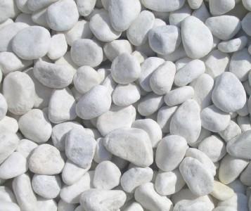 Bulk buy 1000kg bags snow white quartz garden pebbles 5 for Landscaping rocks quartz
