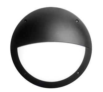 gisburn led bulkhead light fitting complete with photocell 6watt ip65