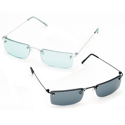Frameless Mens Glasses : 2 PAIRS SLEEK RIMLESS FRAMELESS MENS SUNGLASSES! eBay