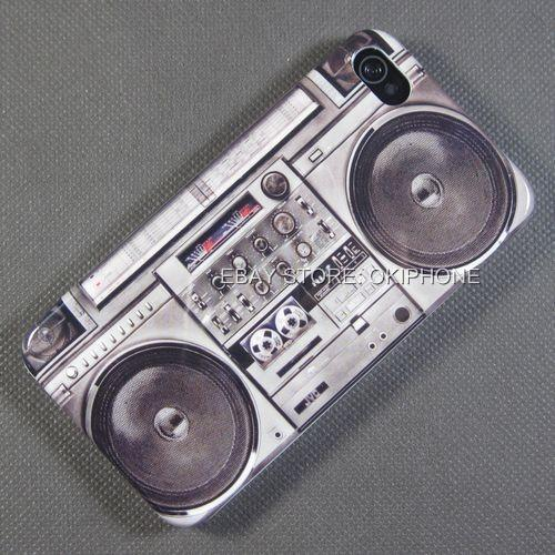 New-COOL-Cassette-Tape-Machine-Hard-Case-Cover-Skin-For-Apple-iPhone-4S-4-G-S-4G