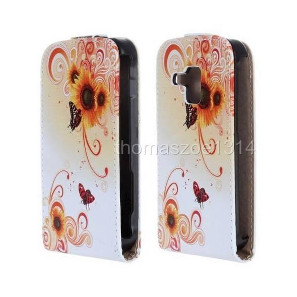 Real Genuine Leather Case Cover Skin For Samsung Galaxy Trend Plus S7580 S7582
