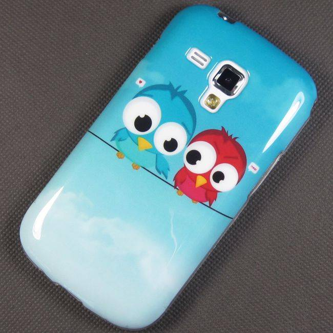 Soft Cute Owl Case Cover Skin For Samsung Galaxy S Duos 2 S7582 Trend Plus S7580