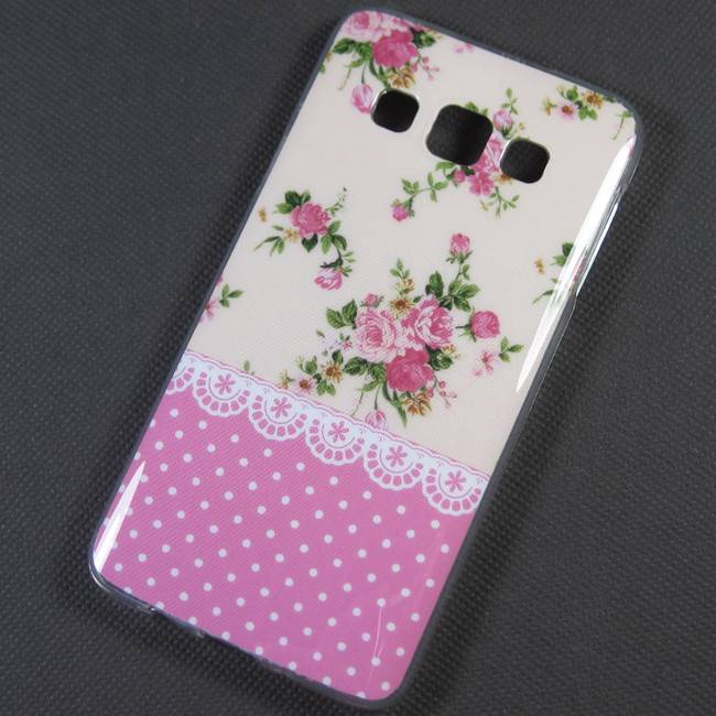 Floral Polka Dot leopard TPU Soft Case Cover Skin For Samsung Galaxy A3 SM A300F