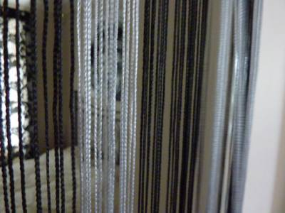 Black Silver Hanging Strand Divider Door Screen Insect Fly Curtain Wasp Mosquito Ebay