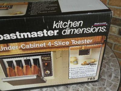 Vintage Toastmaster Under Cabinet 4 Slice Toaster Four New
