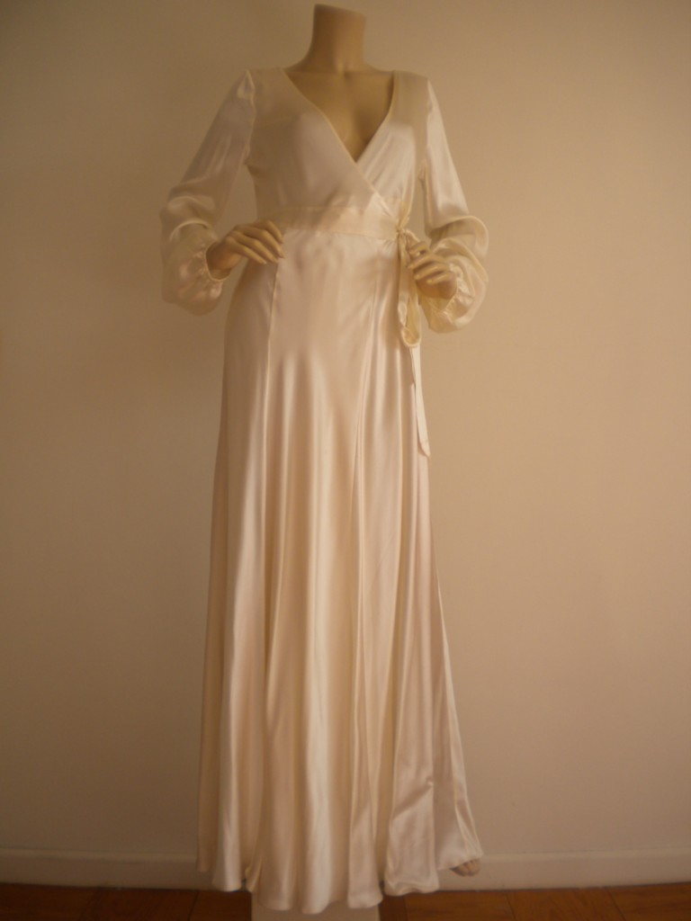 victoria secret silk bridal long gown sexy maxi dress s ebay
