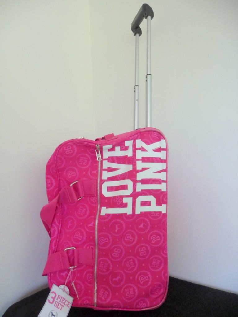 Victoria Secret PINK Travel Wheelie Luggage Bag 3PC Set
