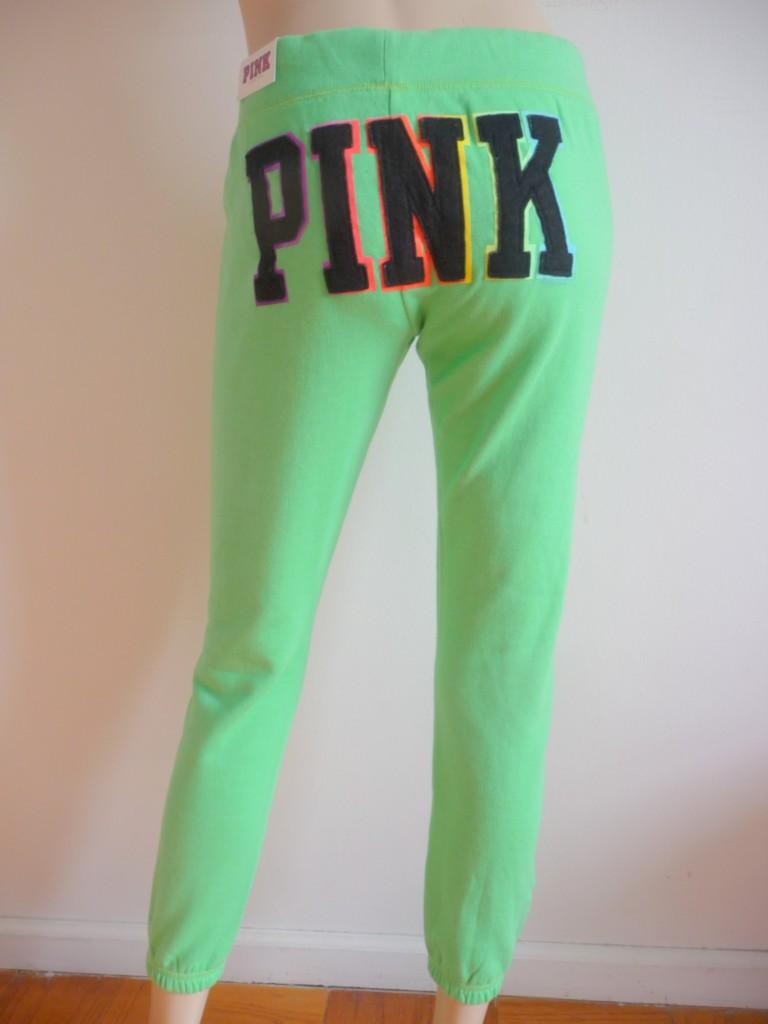 Nwt victorias secret pink slim fit sweat pants xs ebay