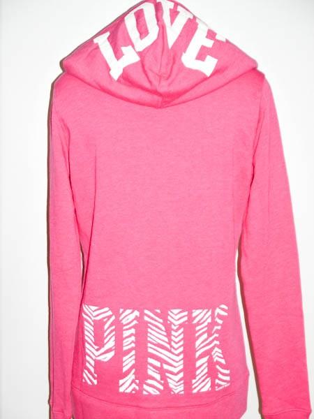 victoria's secret love pink chicago white sox hoodie v-neck tunic varsity medium. c $ free shipping.