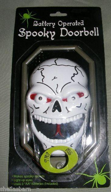 Decorating Ideas > Hallowen Animated Skeleton Doorbell Prop Light & Sound ~ 084113_Halloween Doorbell Sounds