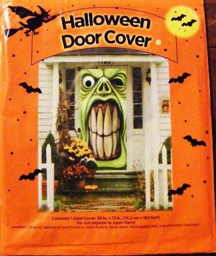 Halloween Ghoul Door Cover Window Wall Mural Decoration Prop ~ 185336_Halloween Refrigerator Door Cover