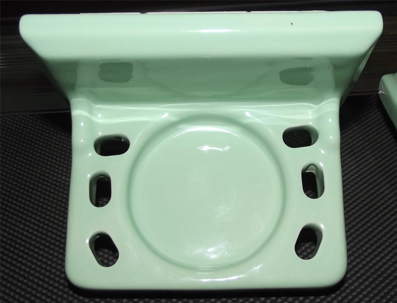 Vintage green ceramic bathroom fixtures plumbing