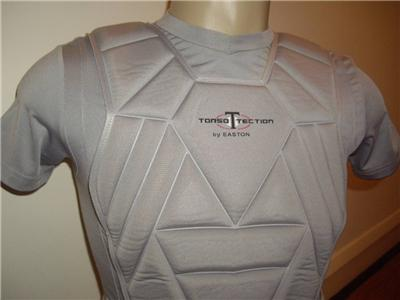 Easton Torso Tection Gray Padded Baseball Bio Dri