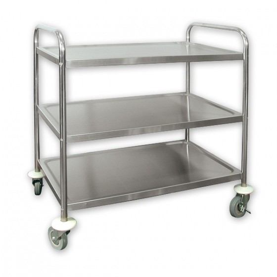 Stainless Steel Kitchen Utility Trolley Cart 3 Tier MED EBay