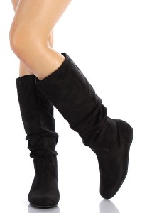 NEW! SODA WOMENS SHOES WINTER FLAT BOOTS SLOUCHY KNEE HIGH SCRUNCH