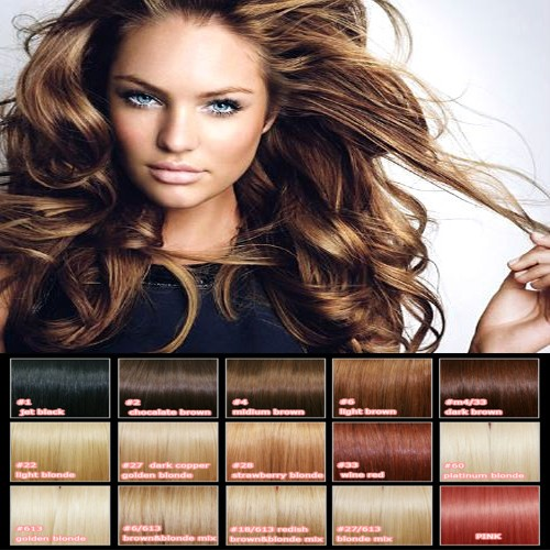 Clip-In-Real-REMY-Human-Hair-Extensions-18Color-Black-Brown-Blonde-Red-Full-Head