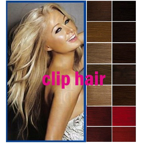 16-18-20-22-24-Clip-In-Remy-Real-Human-Super-Hair-Extensions-All-Color