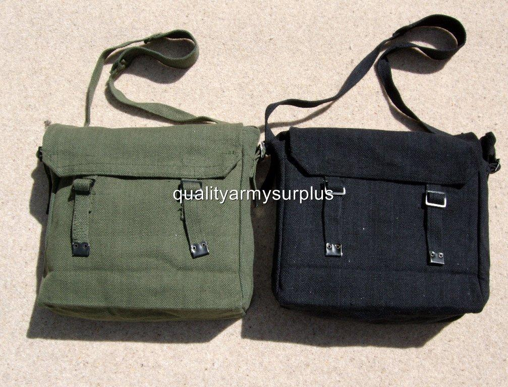 NEW MILITARY SPEC COTTON CANVAS HAVERSACK SATCHEL BAG