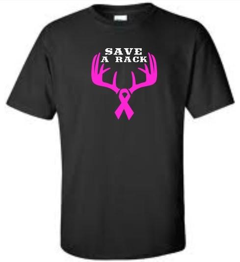 Save A Rack Mens T Shirt Breast Cancer Awareness Mens Tee