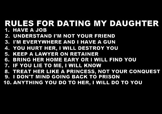 Rules of dating my daughter t shirts