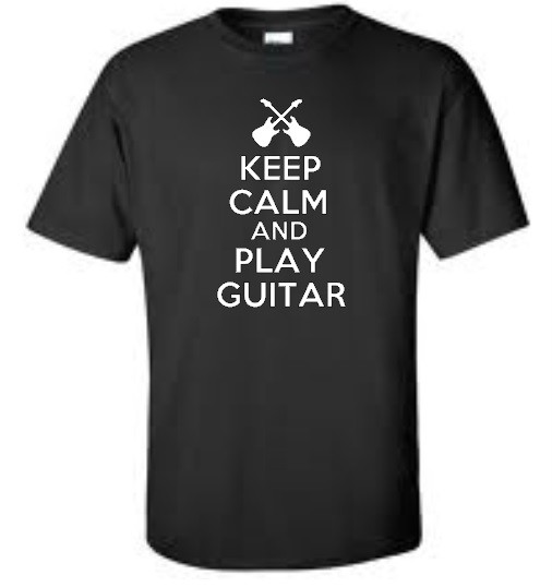 keep calm and play guitar big and tall t shirt funny music