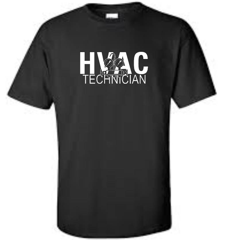 hvac technician big and tall t shirt cool occupation mens