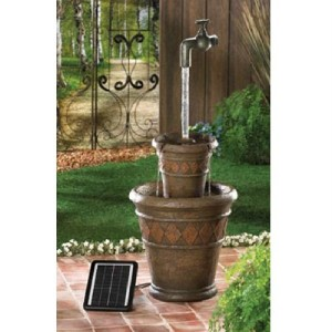 outdoor garden floating faucet solar or electrical water fountain free