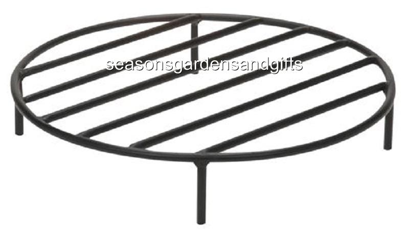 Round Steel Outdoor Fire Pit Cooking Grill Grate FREE