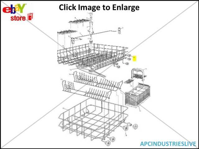 genuine dishlex westinghouse dishwasher wheel  u0026 axle upper