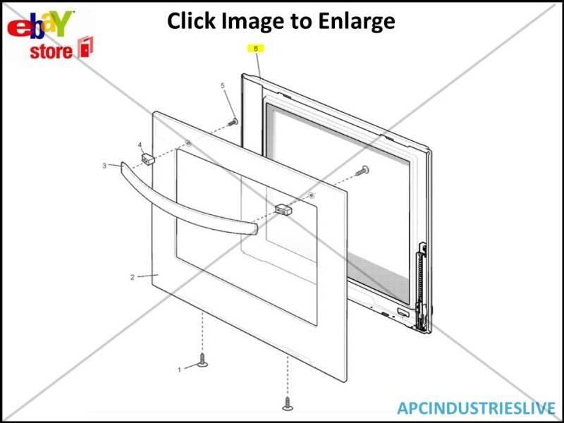genuine westinghouse chef inner oven door panel   hinges