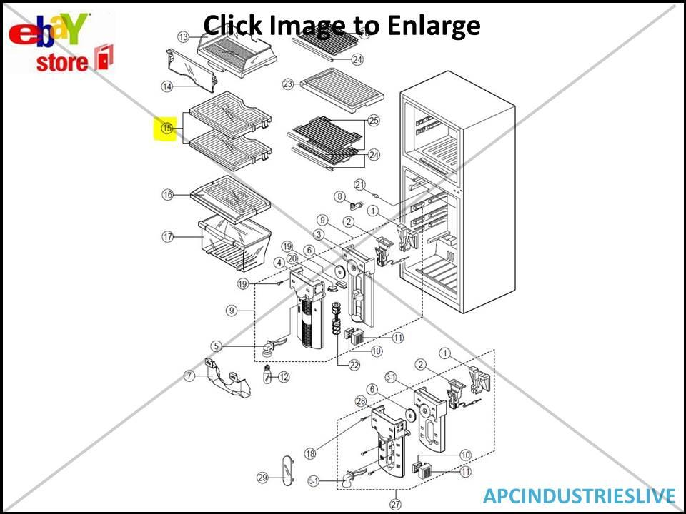 samsung refrigerator parts and accessories