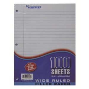 Buy Mead Filler Paper, College Ruled, 3-Hole Punched, 11 x 8-1/2, 200 ...