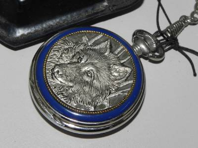 franklin mint pocket wolf center in leather pouch ebay