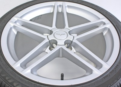 Corvette Z06 18 19 Wheels Factory Rims Silver