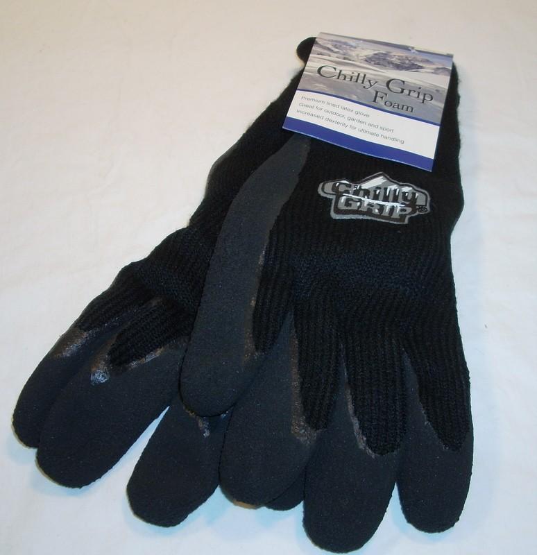 Red Steer Gloves : Red steer mens black chilly grip gloves work hunting