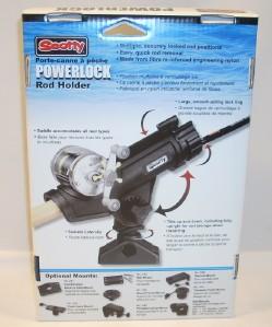 Scotty powerlock open face fishing rod pole holder black for Open face fishing rod