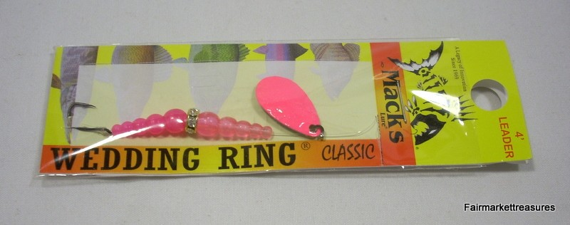 Macks wedding ring classic pink fluorescent pink your for Wedding ring fishing lure