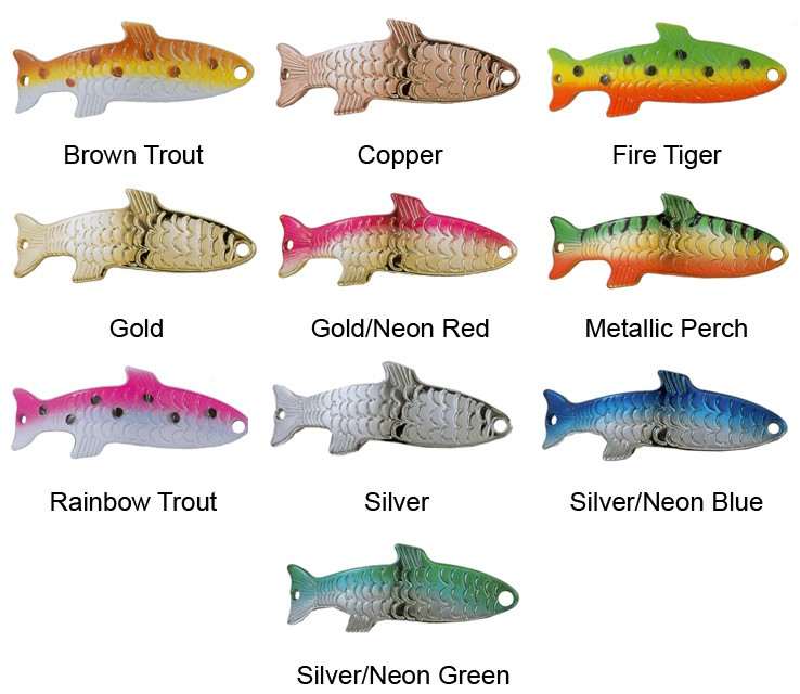 Acme original phoebe 1 8oz 3 5g spinner trout salmon for Best salmon fishing lures